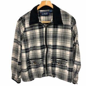 L.A. Blues 18/20 plaid zip front jacket C 338